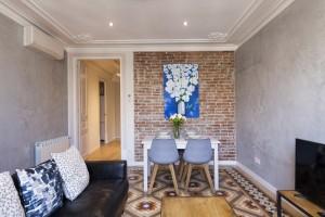 Living Room - Fuster Apartments - Stylish Balcony