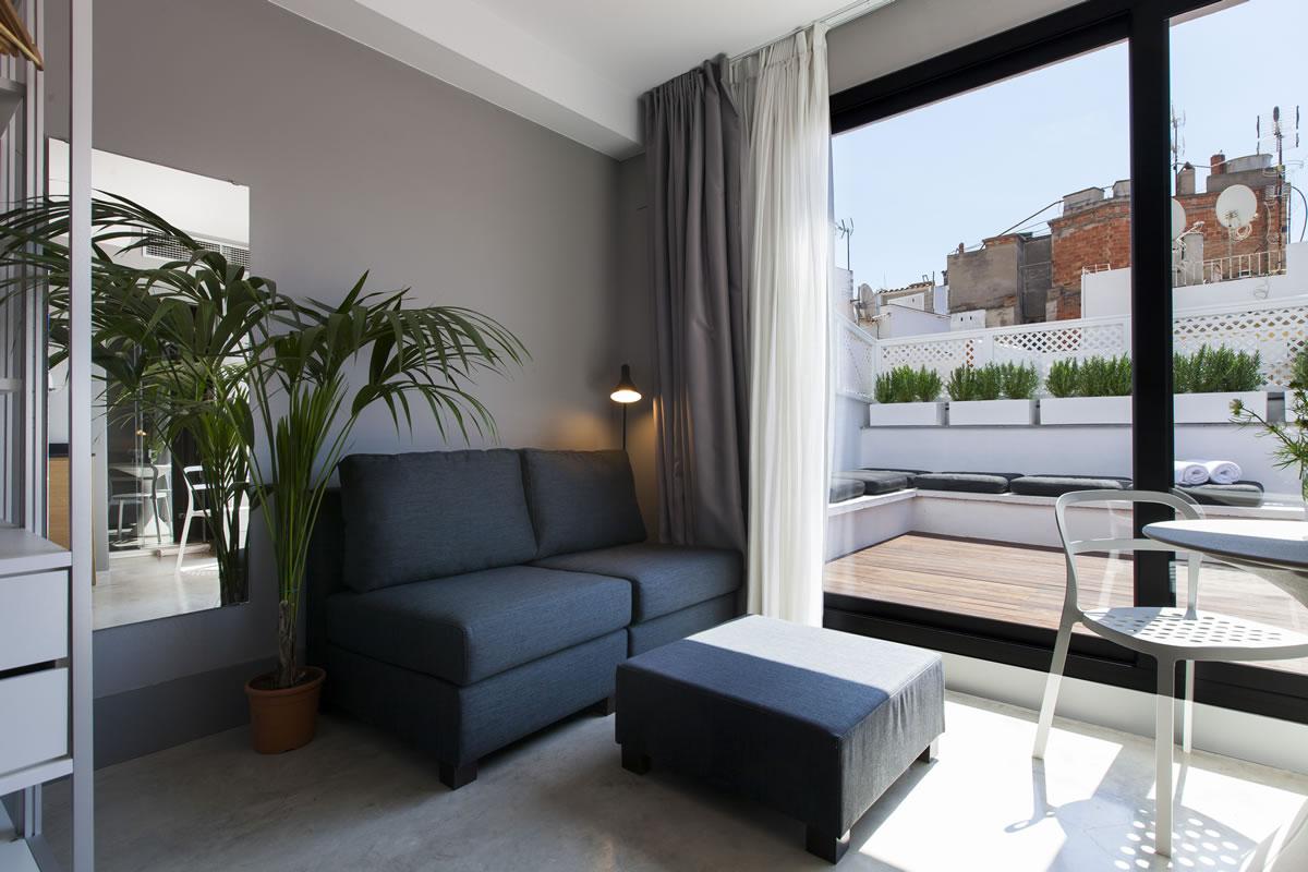 Aspasios kare no studio terrasse appartements la plage for Sillones para terrazas precios
