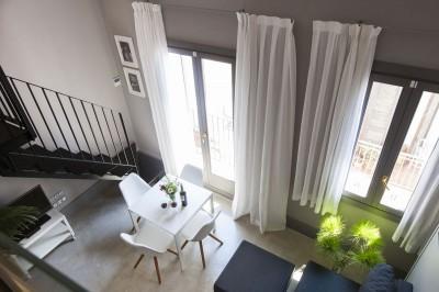 Living room Apartament Kare-No Loft Balcony