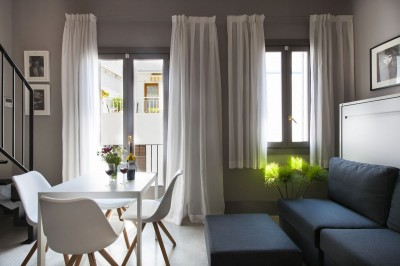 Living room Apartaments Kare-No Loft Balcony