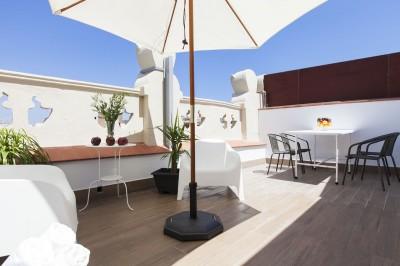 Terraza Alojamiento Charming Flats Trendy Terrace
