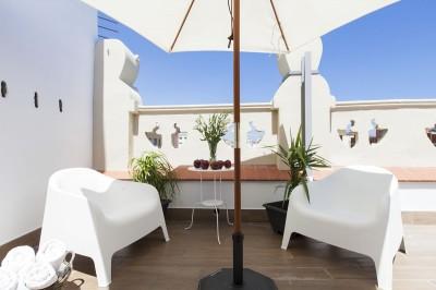 Terraza Habitaciones Charming Flats Trendy Terrace