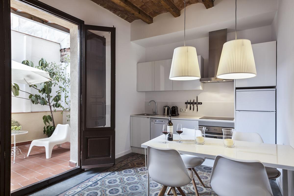 Cocina Habitaciones Charming Flats