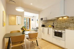 Kitchen and dining room - Garden Apartments