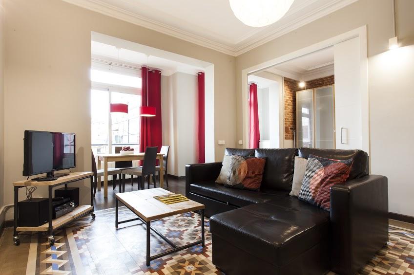 Living Room - Fuster Apartments