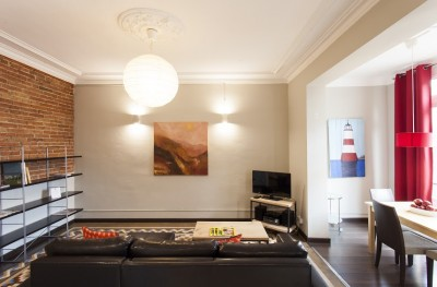 Living Room - Fuster Apartments - Stylish