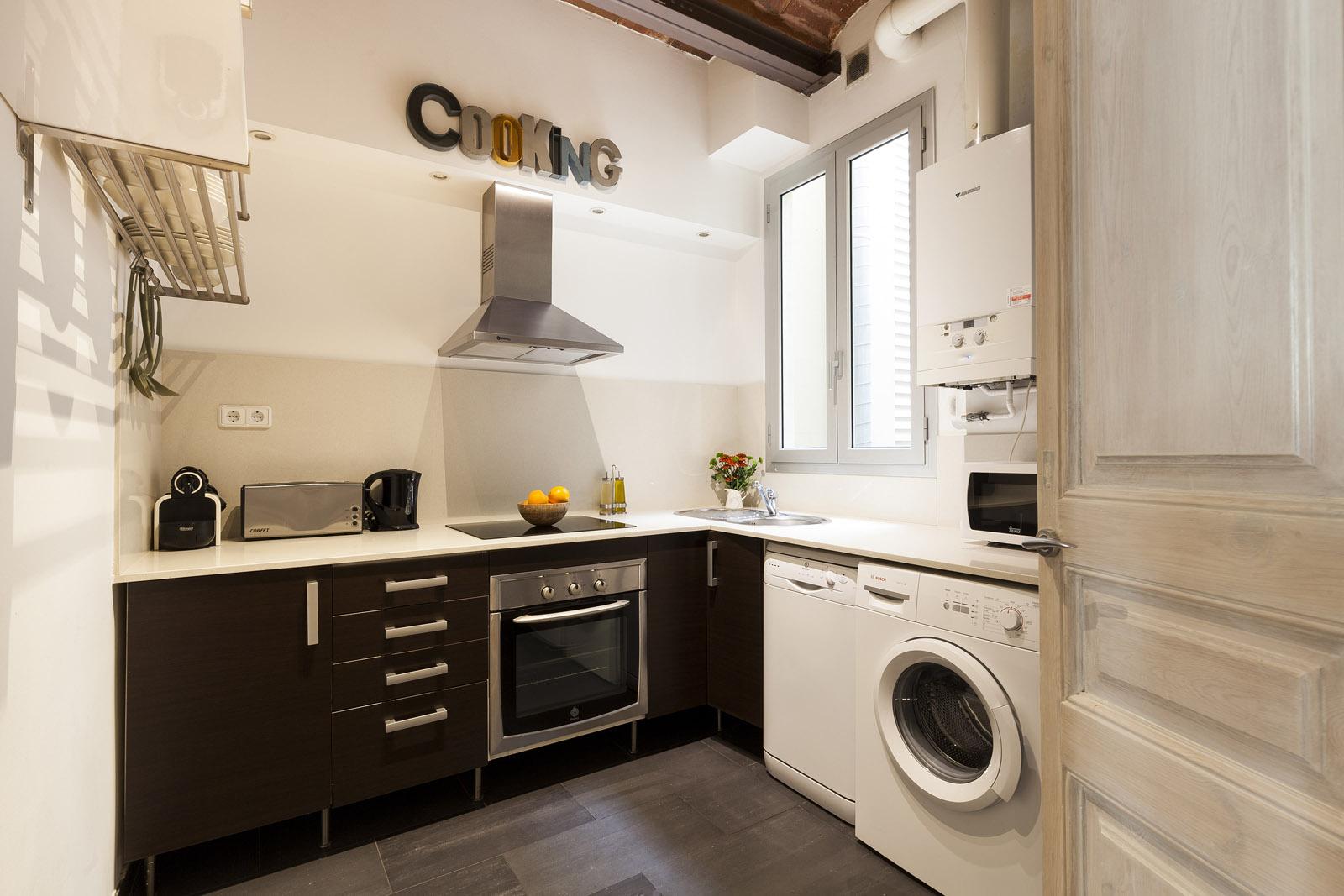 Kitchen - Fuster Apartments - Stylish Balcony