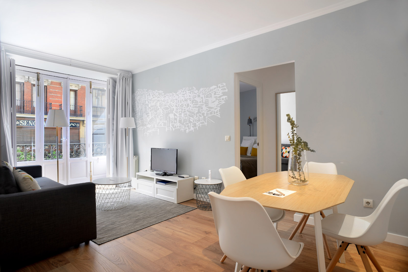 Living room Accommodation Calle Mayor Apartments Trendy Plus Balcony