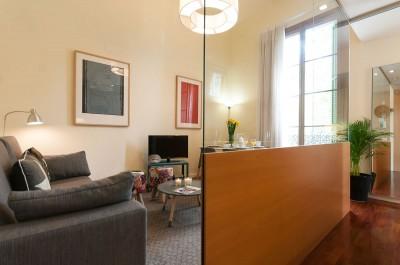 Salón Habitación Rambla Cataluña Suites Trendy