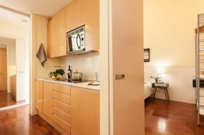 Cocina Habitaciones Rambla Catalunya Suites Trendy