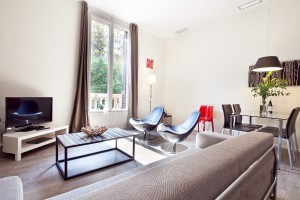 Living room Apartaments Rambla Catalunya Suites Stylish