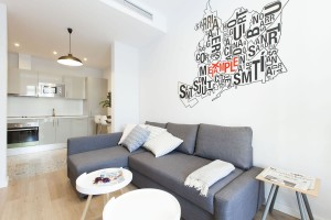 Living room To stay in Vale Apartments Barcelona Stylish Plus