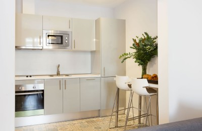Kitchen Accommodation Vale Apartments Barcelona Stylish Plus