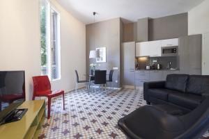 Cocina Habitaciones Rambla Catalunya Suites Design