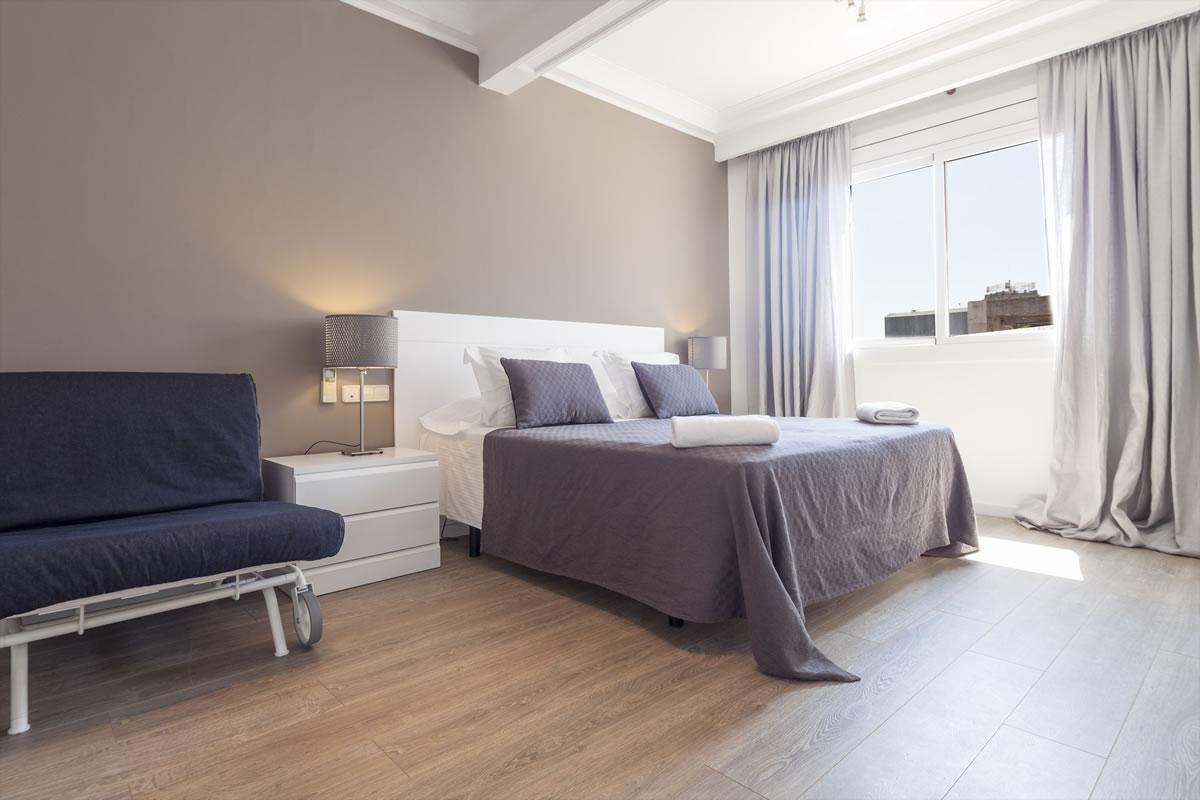 Bedroom Apartaments Rambla Catalunya Suites Elegant