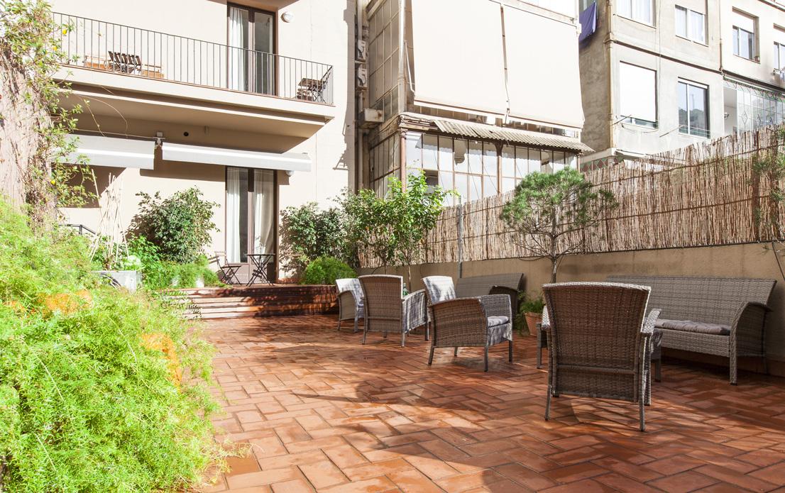 Living room Apartament Rambla Catalunya Suites
