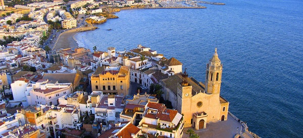 The town of Sitges, just 40 minutes away from Barcelona