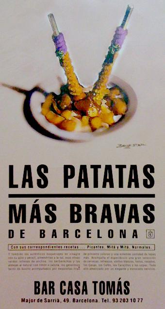 Las patatas bravas del Bar Tomás de Sarriá en Barcelona