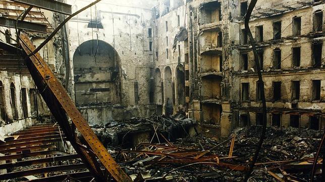 Destroyed Liceu building