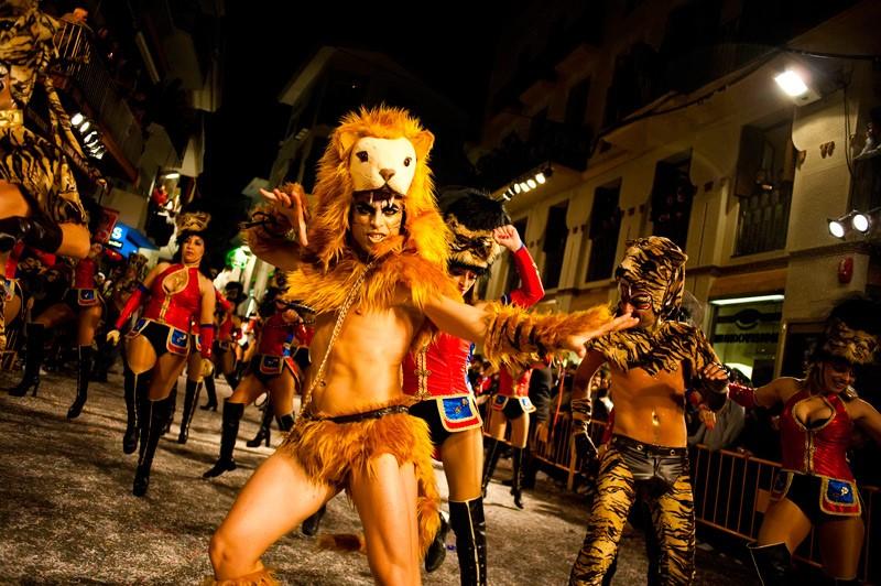 Sitges carnival dancers