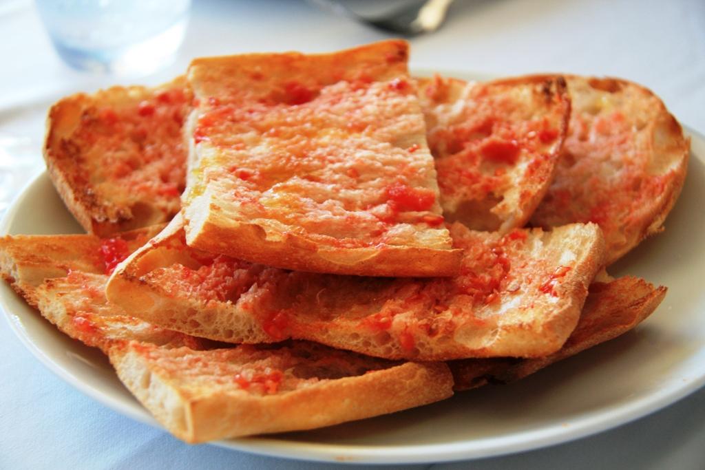 Pan con tomate en Barcelona