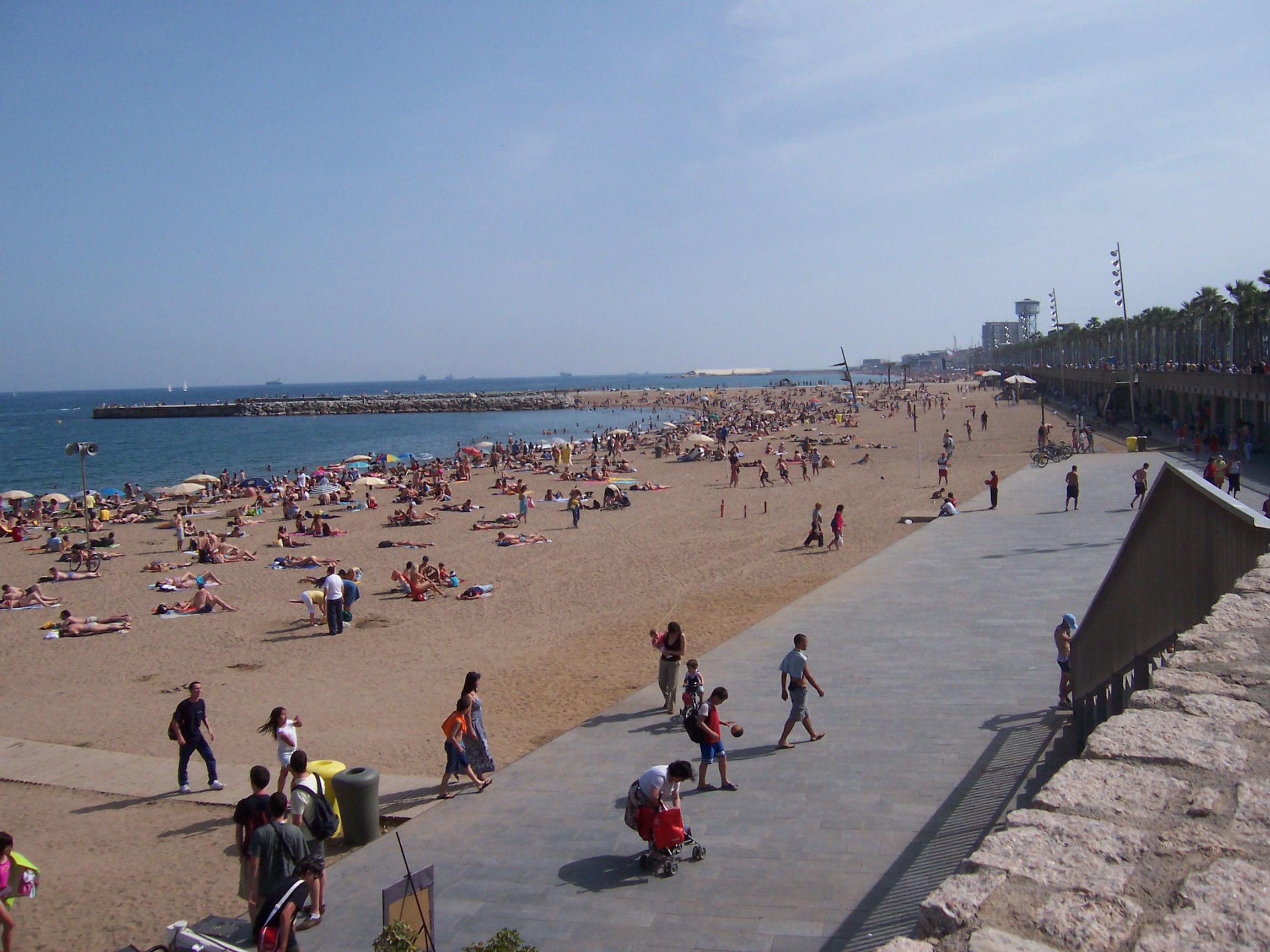 Playa de Somostro en Barcelona