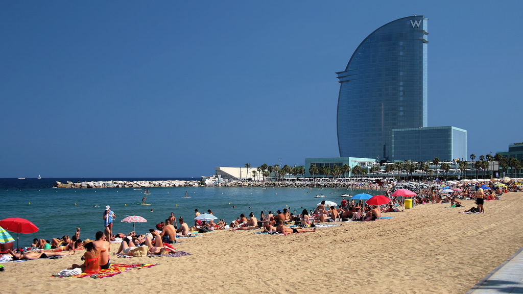 Playa San Sebastián en Barcelona