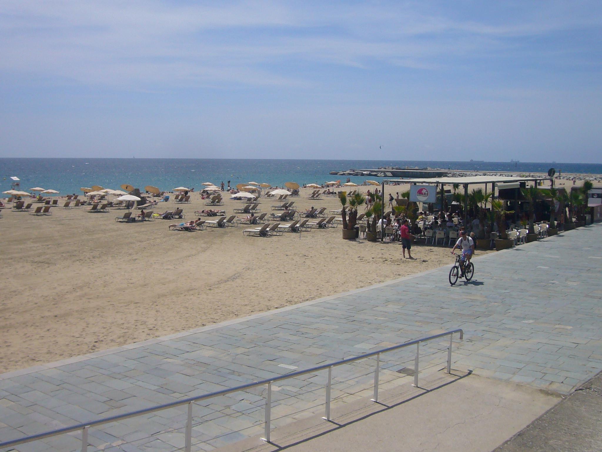Playa del Bogatell en Barcelona