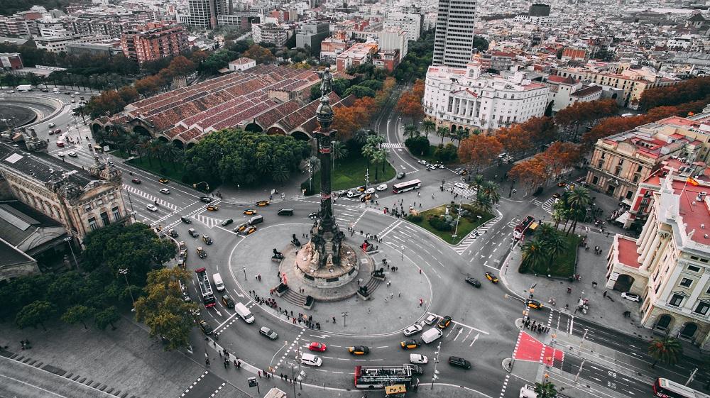 Estatua de Colón en Barcelona (Foto: Benjamin Voros)