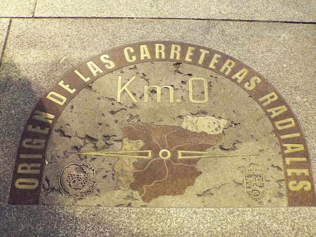 Kilometer 0 in Madrid