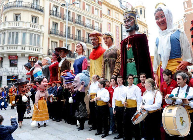 Gigantes y Cabezudos Parade, Madrid